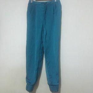 Pants - Teal Satin Pants
